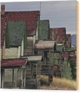Film Homage Mae Marsh Miner's Coal Company Homes Ghost Town Madrid New Mexico Color 1968-2008 Wood Print
