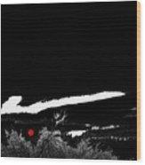 Film Noir Homage Robert Mitchum Blood On The Moon 1948 Rising Moon Casa Grande Arizona 2005-2008 Wood Print