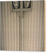 Film Noir Sidney Greenstreet Mask Of Demetrious 1944 Sid Bruce's Sculptures Black Canyon Az 1991 Wood Print