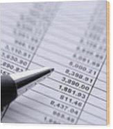 Finances Wood Print