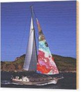 Fine Art Sails Wood Print by Dan Cope