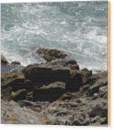 Fine Art Water And Rocks Wood Print