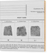 Fingerprints, Historical Image Wood Print