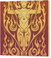 Fire Spirit Wood Print by Cristina McAllister