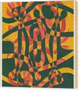 Firedance Wood Print