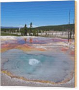 Firehole Spring In Yellowstone National Park Wood Print