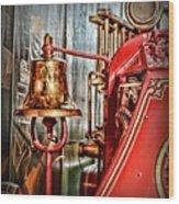Fireman - The Fire Bell Wood Print
