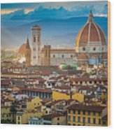 Firenze Duomo Wood Print