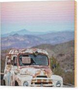 Firestone Truck Wood Print