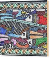 Fish Culture Wood Print