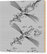 Fish Lure Patent 1933 Wood Print