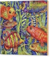 Fish Tales IIi Wood Print