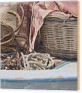 Fishing Baskets Wood Print