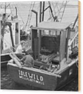 Fishing Boat Idlewild Wellfleet Massachusetts Wood Print