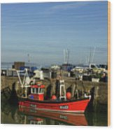 Fishing Boats At Whitstable Harbour 02 Wood Print