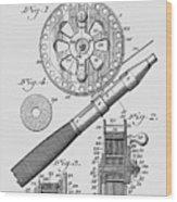 Fishing Reel Patent 1906  Wood Print