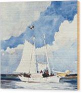 Fishing Schooner Wood Print