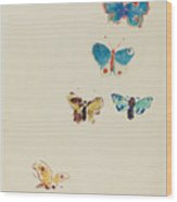Five Butterflies Wood Print
