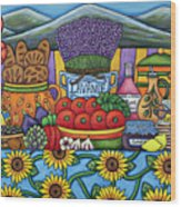 Flavours Of Provence Wood Print