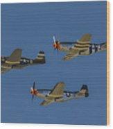 Flight Of Ponies Wood Print