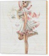 Flirtation In The Breeze Wood Print
