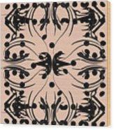 Flora Feline Blush Wood Print