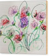 Floral Bunch Wood Print