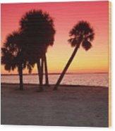 Florida Gulf Sunset Wood Print