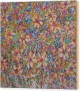 Flower Galaxy Wood Print