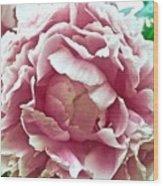 Flower In Blues Wood Print
