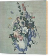Flowers In A Rococo Vase Wood Print