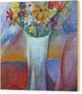 Flowers In Vase Vii Wood Print