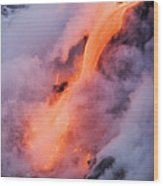 Flowing Pahoehoe Lava Wood Print