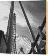 Focus On The Ferris Wheel Wood Print