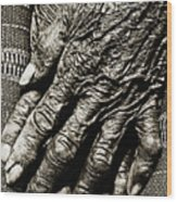 Old Hands Wood Print