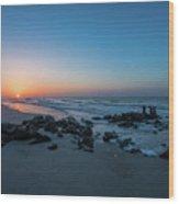 Folly Beach Sunrise Wood Print