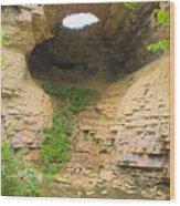 Fonferek Glen Rock Bridge And Falls Wood Print