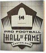 Football Hall Of Fame #1 Wood Print