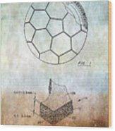 Football Patent Wood Print