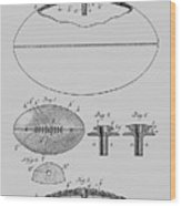 Football Patent Drawing From 1903 Wood Print