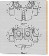 Football Shoulder Pads Patent 1913 Wood Print