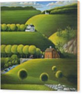 Foothills Of The Berkshires Wood Print