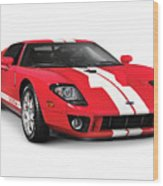 Ford Gt Supercar Wood Print