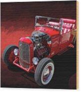 Ford Hot Rod Roadster Wood Print