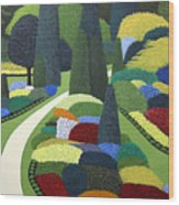 Formal Garden On Canvas Wood Print