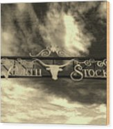 Fort Worth Stockyards District Archway Wood Print