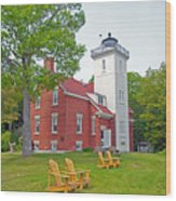 Forty Mile Point Lighthouse Wood Print