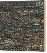 Foster City, California Aerial Photo Wood Print