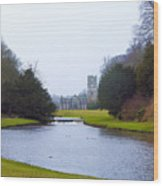 Fountains Abbey Lake Wood Print