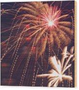 Fourth Of July Fireworks  Wood Print